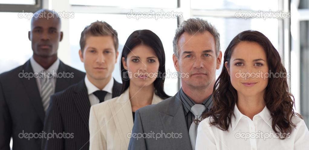 Multi Ethnic Businessgroup looking at Camera — Stock Photo #10310640