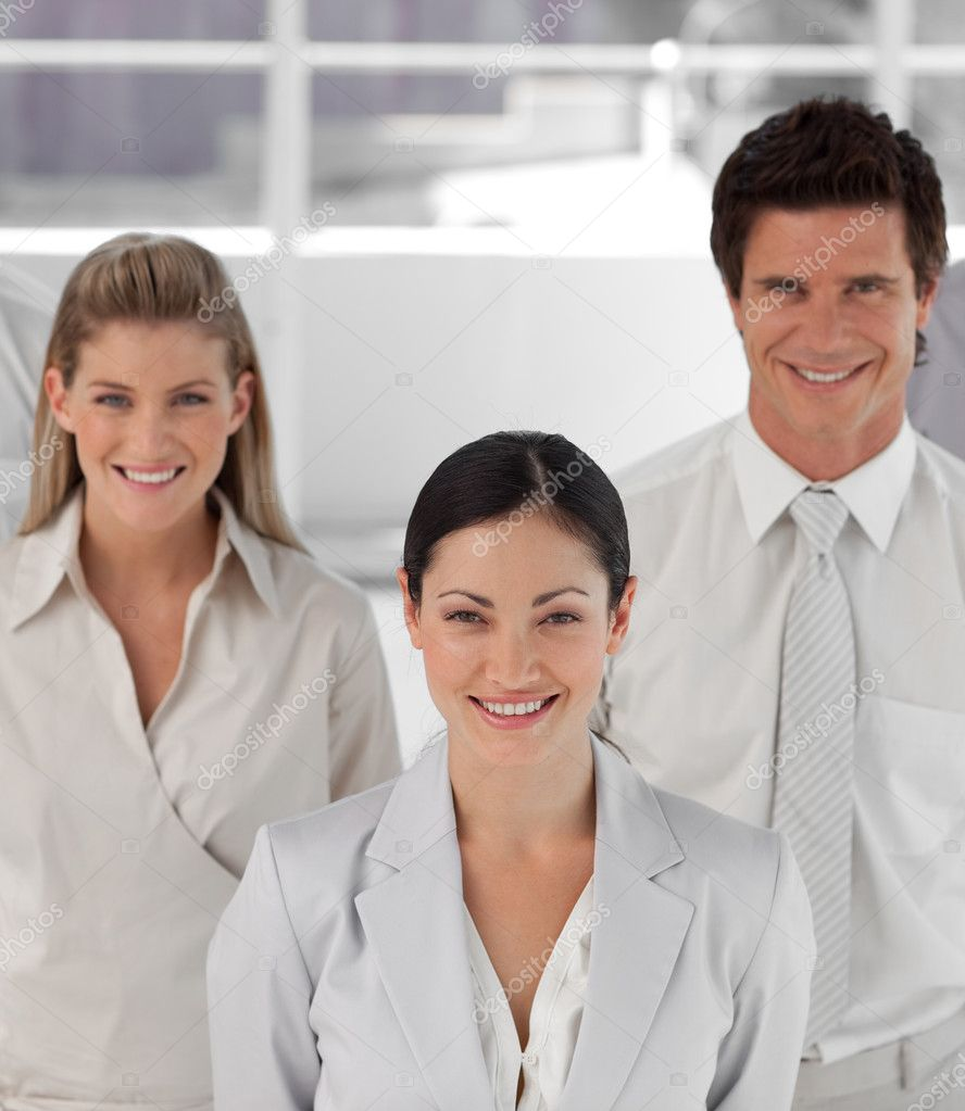 High Angle Potrait shot of Three person Business team — Stock Photo #10313184