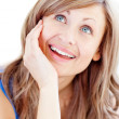 Portrait of a jolly woman — Stockfoto #10320144