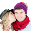 United couple looking at the camera together — Stock Photo #10320855