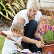 Delighted mother with her daughter outside — Stock Photo