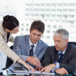 Professional business team working together — Stock Photo