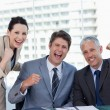 Successful business team working together — Stock Photo