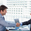 businessmen shaking hands — Stock Photo #10321463