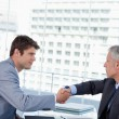 Businessmen shaking hands — Stock Photo #10321470