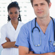 Royalty-Free Stock Photo: Portrait of professional doctors standing up