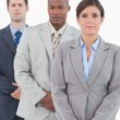 Stock Photo: Young salesteam standing together
