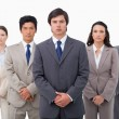 Confident businessteam standing — Stock Photo