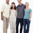 Stock Photo: Two couples smiling