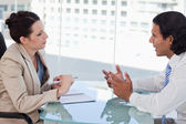 Young business negotiating — Stock Photo