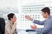 Serious business team negotiating — Stock Photo