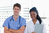 Happy doctors posing — Stock Photo