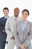 Smiling tradesteam standing together — Stock Photo