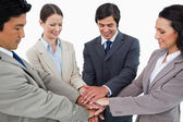Young businessteam motivating each other — Stock Photo