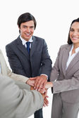 Young businessteam self-motivating — Stock Photo