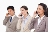 Businesspeople on the phone — Stockfoto