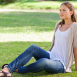 Woman relaxing on the lawn — Stock Photo #10330690