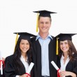 Three friends graduate from college together — Stock Photo #10336660