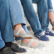 Side view of 's feet — Stock Photo