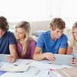 Students working to help one another — Stock Photo #10337039