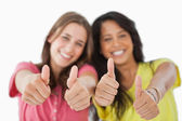 The thumbs-up — Stock Photo
