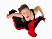 Overhead view of female dancer — Stock Photo