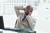 Office worker on the phone — Stock Photo