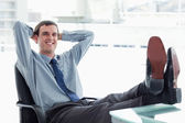 Blissful manager relaxing — Stock Photo