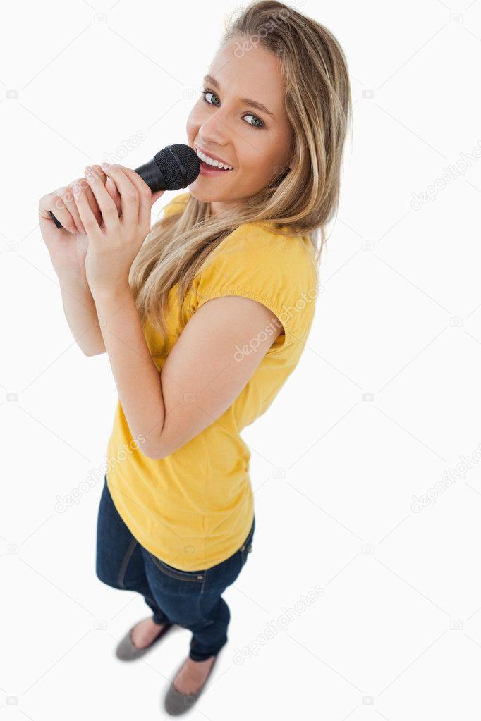 Blond Teen Was Singing 47