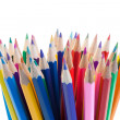 Stock Photo: Color pencils gathering
