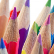 Close-up over the high part of color pencils — Stock Photo