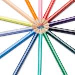 Color pencils rose-window — Stock Photo #10578089
