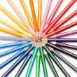 Top view of color pencils star — Stock Photo
