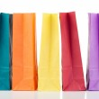 Colored paper bags — Stock Photo
