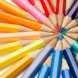 Close color pencils - Stock Photo