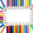 Color pencils rectangle — Stock Photo