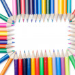 Stock Photo: Color pencils rectangle