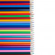 Color pencils horzontal alignment — Stock Photo