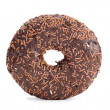 Chocolate donut isolated — Stock Photo