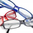 Royalty-Free Stock Photo: Black red and blue glasses