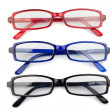 Black red and blue glasses — Stock Photo #10579548