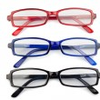 Black red and blue glasses - Stock Photo