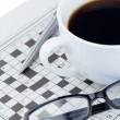 Newspapers and crossword puzzle — Stock Photo