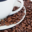 Cup of coffee and coffee beans — Stock Photo #10579854