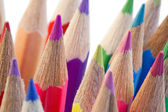 Close-up over the high part of color pencils — Stockfoto