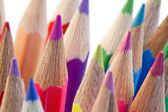 Close-up over the high part of color pencils — Foto de Stock