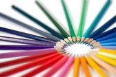 Angled color pencils star — Stock Photo