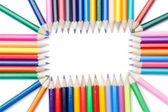 Renkli kalemler dikdörtgen — Stok fotoğraf