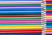 Joined color pencils — Stock Photo