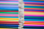 Rows of color pencils — Stock Photo